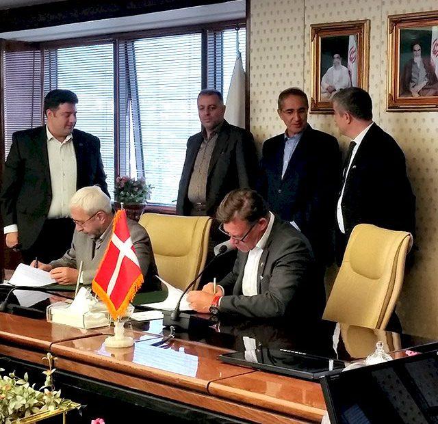 امضاء تفاهم نامه ایران انشعاب با شرکت های دانمارکی